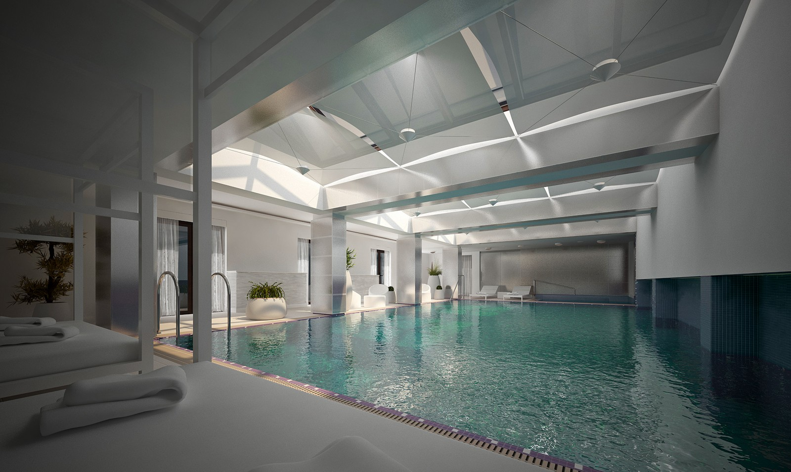 Indoor private swimming pool createlier for Private swimming pool